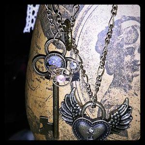 A beautiful steam punk lock and key